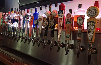 Beers on tap at the Hurley Mountain Inn